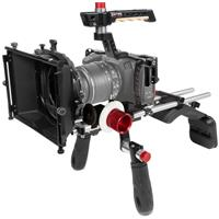 Image of Shape Shape Cage Kit with Matte Box, Shoulder Mount and Follow Focus for Blackmagic Pocket Cinema Camera 4K