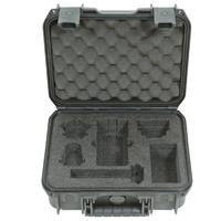 Image of SKB iSeries Injection Molded Waterproof Hard Case for Zoom H6 Recorder with Shotgun Mic Slot