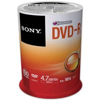 Sony Recordable Storage DVD-R Media, Pack of 100