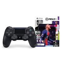 Image of PlayStation PlayStation EA SPORTS FIFA 21 Bundle with DualShock 4 Wireless Controller for Playstation 4, Jet Black (No Game Included)