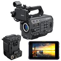 """Image of Sony PXW-FX9 XDCAM 6K Full Frame Camera System Bundle with Sony XDCA-FX9 Extension Unit, Atomos Shogun 7 7"""" HDR Pro/Cinema Monitor-Recorder-Switcher"""