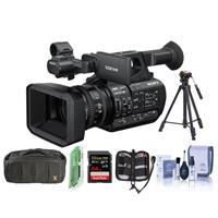 Sony PXW-Z190 Compact 4K 3-CMOS 1/3-type sensor XDCAM Camcorder - Bundle With Video Bag, 64GB SDXC U3 Card, Video Tripod, Cleaning Kit, Memory wallet, Card Reader,