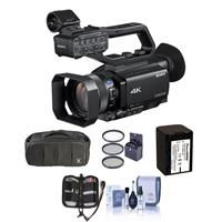 """Sony PXW-Z90V Compact 1"""" XDCAM 4K Camcorder with 3G-SDI Output - Bundle With Video Bag, Spare Battery, 62mm Filter Kit, Memory Wallet, Cleaning KIt"""