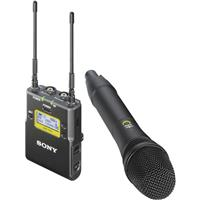 Sony UWP-D12/14 Digital Wireless Handheld Mic ENG System, Includes Transmitter, Receiver, Mic Holder, Adapters, Clip, Cables, UHF 14/25: 470-542MHz