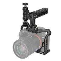 Image of SmallRig Full Camera Cage Kit with Cool-Ballhead-V1 Double End Ballhead and NATO Handle for Sony A7RIII/A7III