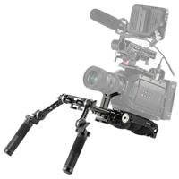 Image of SmallRig Professional Universal Shoulder Pad Kit for Big Sized Cameras, Includes Sony VCT-14 Shoulder Plate, 15mm Black Aluminum Alloy Rod, Lens Support with 15mm LWS Rod Clamp and Shoulder Rig Handle Kit
