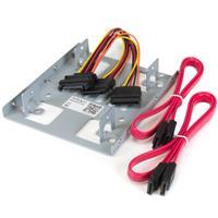 "Image of StarTech Dual 2.5"" to 3.5"" Mounting Bracket Kit for SATA Hard Drive"