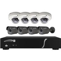 Image of Speco Technologies ZIPL8BD2 Plug & Play NVR and IP Kit, Includes 2TB 8 Channel NVR with 8 Channel Built-In PoE and 4x Full HD 1080p Outdoor IR Dome Cameras, 4x Full HD 1080p Outdoor IR Bullet Cameras
