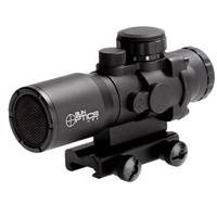 Image of Sun Optics 4x32 Tactical Precision Prismatic Red Dot Sight with Sunshade, Red/Green/Blue IR Selection Mil-Type Reticle, Fully Multi-coated, 1/4 MOA, Waterproof, Shockproof and Fogproof