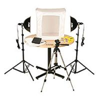 "Smith Victor KLB-2, Two Light 1000 Total watt Photoflood Light Box Kit with 28"" Shooting Tent. Product image - 1230"