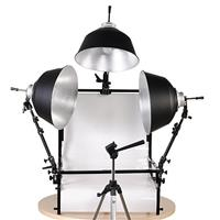 Information about Smith Victor TST-F3, 3 Light Fluorescent 1050 Watt (Tungsten Equivalent) Shooting Table Kit Product photo