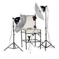 Smith Victor TST-P2, 3 Light 1250-Watt Photoflood Shooting Table Kit Product image - 723