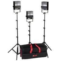 Smith Victor SL300 3 600 Watt SoftLight Quartz Light Kit with Light Cart on Wheels Carrying Case. Product image - 2116