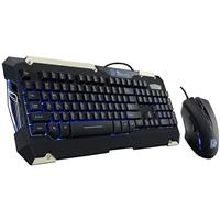 Image of Thermaltake Tt eSports COMMANDER Gaming Keyboard & Mouse Combo, Blue Light