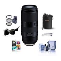 Image of Tamron 100-400mm f/4.5-6.3 Di VC USD Telephoto Lens for Canon EF Mount - Bundle With 67mm Filter Kit, Lens Pouch, Flex Lens Shade, Cleaning Kit, Capleash, PC Software Package