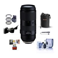 Image of Tamron 100-400mm f/4.5-6.3 Di VC USD Telephoto Lens for Canon EF Mount - Bundle With 67mm Filter Kit, Lens Pouch, Flex Lens Shade, Cleaning Kit, Capleash, Mac Software Package