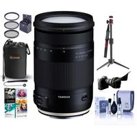 Image of Tamron 18-400mm f/3.5-6.3 Di II VC HLD Lens for Canon EF - Bundle With Flex Lens Shade, Table Top Tripod, Lens Pouch, 72mm Filter Kit, Cleaning Kit, Capleash, Software Package