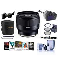 Image of Tamron 24MM F/2.8 DI III OSD Lens for Sony FE - Bundle With 67mm Filter Kit, Lens Case, Flex Lens Shade, FocusShifter DSLR Follow Focus, Cleaning Kit, Lens Cleaner, Capleash, Software Package