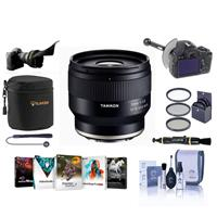 Image of Tamron 35MM F/2.8 DI III OSD Lens for Sony FE - Bundle With 67mm Filter Kit, Lens Case, Flex Lens Shade, FocusShifter DSLR Follow Focus, Cleaning Kit, Lens Cleaner, Capleash, Software Package