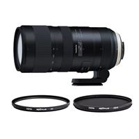 Image of Tamron SP 70-200mm f/2.8 Di VC USD G2 Lens for Nikon F Mount - Bundle With Hoya NXT Plus 77mm 10-Layer HMC MC UV Filter, Hoya NXT Plus 77mm 10-Layer HMC Multi-Coated Circular Polarizer Filter