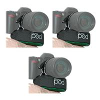 The POD 3 Pack Green Camera Platform for DSLRs with Zoom Lenses