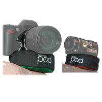 The POD Green Camera Platform for DSLRs with Zoom Lenses - With The Pod Red Bean Bag Camera Support