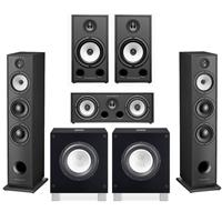 Image of Triangle Borea 5.1.2 Surround Sound Speaker Package in Black Ash with Rel Acoustics T/7i Subwoofers