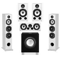 Triangle Borea 5.1.1 Surround Sound Speaker Package in White with Rel Acoustics T/7i Subwoofer