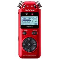 Image of Tascam DR-05X Stereo Handheld Digital-Audio Recorder and USB Audio Interface, Red