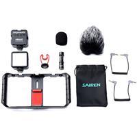 Image of Ulanzi Smartphone Vlogging Video Kit, Includes Smartphone Video Rig, Mini LED Video Lights & VM-Q1 Microphone