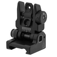 Image of UTG ACCU-SYNC Spring-Loaded AR15 Flip-Up Rear Sight, Matte Black