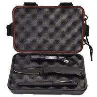 Image of UZI Tactical Combo, Includes Tactical Folding Knife with SS Drop Point Blade, Tactical Pen with Striking Point, LED Flashlight, Water/Shock Resistant Carry Case