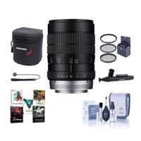 Image of Venus Laowa 60mm F/2.8 Ultra Macro Manual Focus Lens - for Canon EF Mount - Bundle With 62mm Filter Kit, Lens Case, Cleaning Kit, Capleash II, Lens Cleaner, Software Package