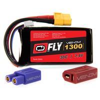 Image of Venom Fly 30C 2S 1300mAh 7.4V LiPo Battery with UNI 2.0 Plug