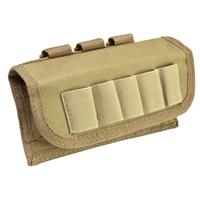 Image of NcSTAR Vism Shot Shell Pouch, MOLLE Compatible, Tan