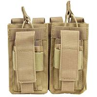 Image of NcSTAR Vism Double Magazine Pouch, for Two Double Stack Magazines, Tan.