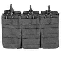 Image of NcSTAR Vism Triple Magazine Pouch, for Three Double Stack Magazines, Black.