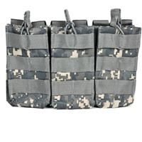 Image of NcSTAR Vism Triple Magazine Pouch, for Three Double Stack Magazines, Digital Camouflage