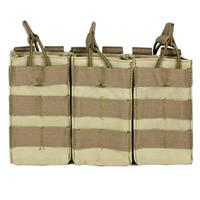 Image of NcSTAR Vism Triple Magazine Pouch, for Three Double Stack Magazines, Tan.