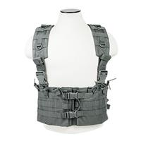Image of NcSTAR Vism AR Chest Rig with 6 Double AR Magazine Pouches, Urban Gray