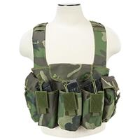 Image of NcSTAR Vism AK Chest Rig with 3x Double AK Magazine Pouches, Woodland Camo