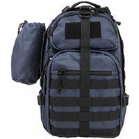 Image of NcSTAR Vism Sling Backpack with Water Bottle Holder, Blue with Black Trim