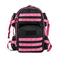 Image of NcSTAR Vism Tactical Backpack, Black with Pink Trim