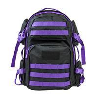 Image of NcSTAR Vism Tactical Backpack, Black with Purple Trim