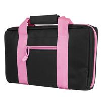 Compare Prices Of  NcSTAR Vism Discreet Pistol Case with Two Separate Padded Compartments, Black with Pink Trim