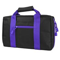 Image of NcSTAR Vism Discreet Pistol Case with Two Separate Padded Compartments, Black with Purple Trim