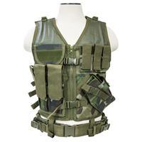 Image of NcSTAR Vism Tactical Vest, Woodland Camo, Fits Medium to X-Large