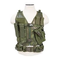 Image of NcSTAR Vism Children's Tactical Vest, Fits X-Small to Small T-Shirt Sizes, Green