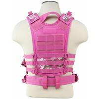 Image of NcSTAR Vism Tactical Vest, Fits X-Small to Small, Pink Camo