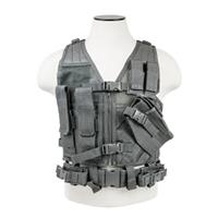 Image of NcSTAR Vism Children's Tactical Vest, Fits X-Small to Small T-Shirt Sizes, Urban Gray